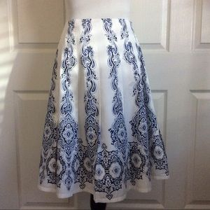 Just In💕 Breezy Blue & White Cotton Skirt
